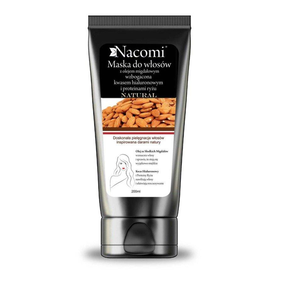 Nacomi Maska do włosów z Olejem ze Słodkich Migdałów i Proteinami Ryżu i Kwasem Hialuronowym.