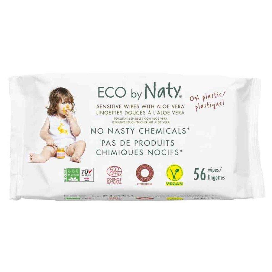 Naturalne chusteczki nawilżane z aloesem Eco by Naty 56 szt.