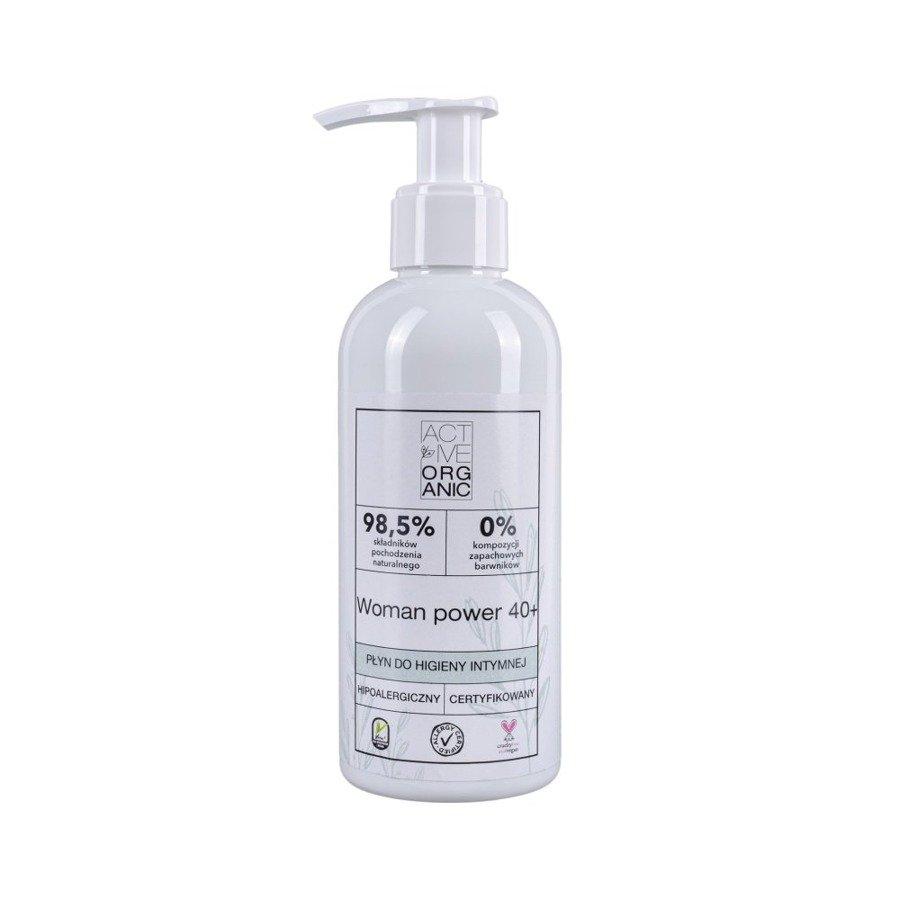 Naturalny płyn do higieny intymnej dla kobiet 40+ Active Organic 200 ml