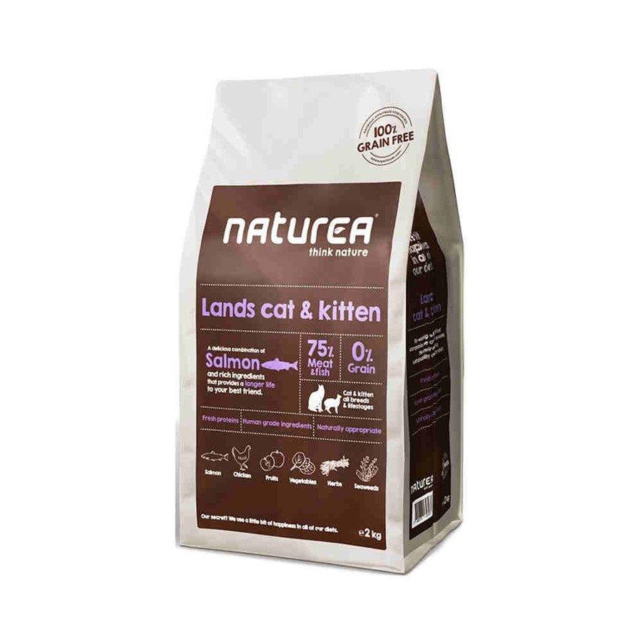 Naturea GF Lands Cat and Kitten Bezzbożowa karma dla kotów i kociąt wszystkich ras 2 kg