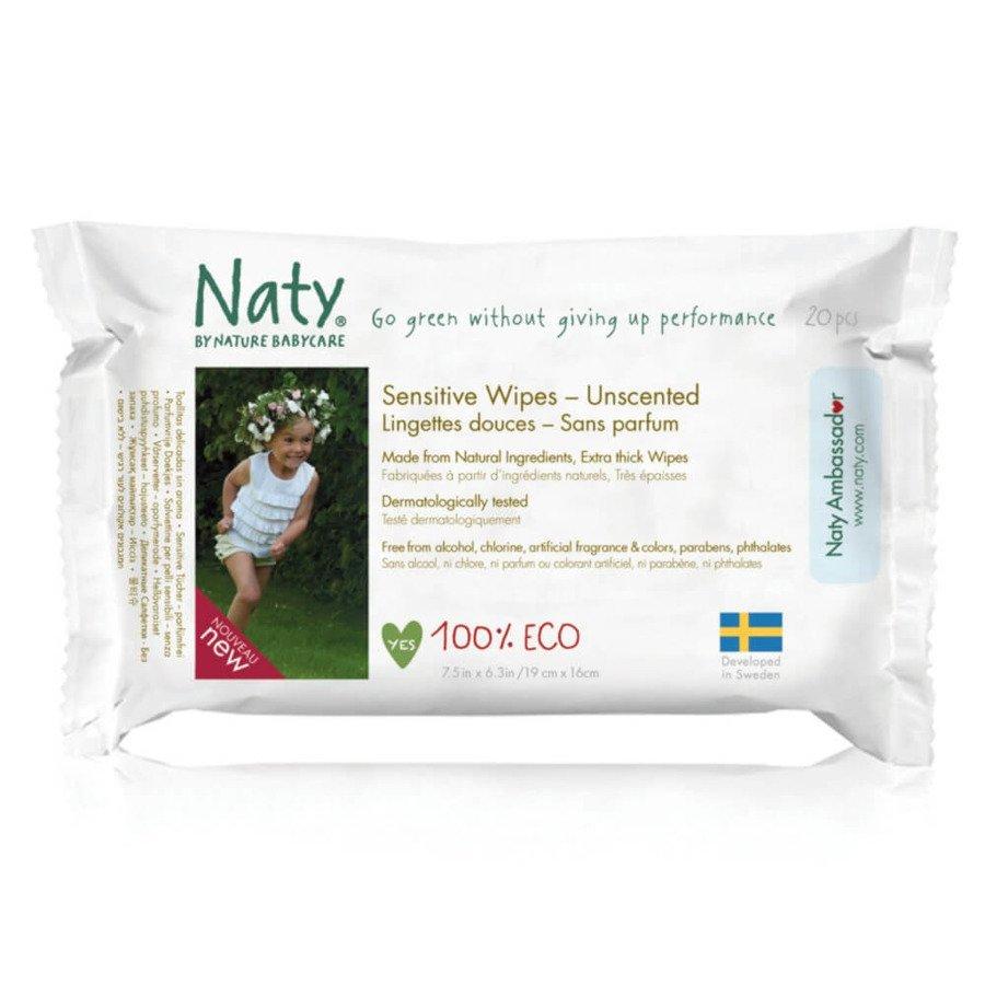 Naty Bezzapachowe chusteczki nawilżane Nature Babycare 20szt.
