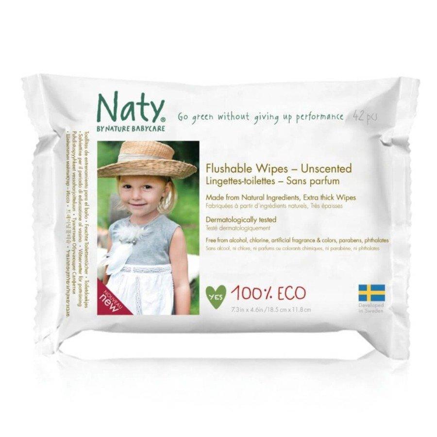 Naty Toaletowe chusteczki nawilżane bezzapachowe Nature Babycare 42 szt.