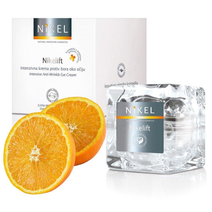 Nikel Nikelift Przeciwzmarszczkowy krem pod oczy z pomarańczą i kwiatem Immortelle