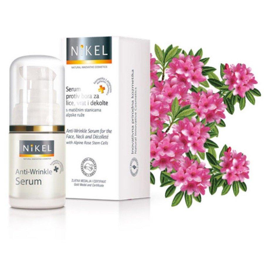 Nikel Przeciwzmarszczkowe serum na twarz z komórkami macierzystymi z róży alpejskiej