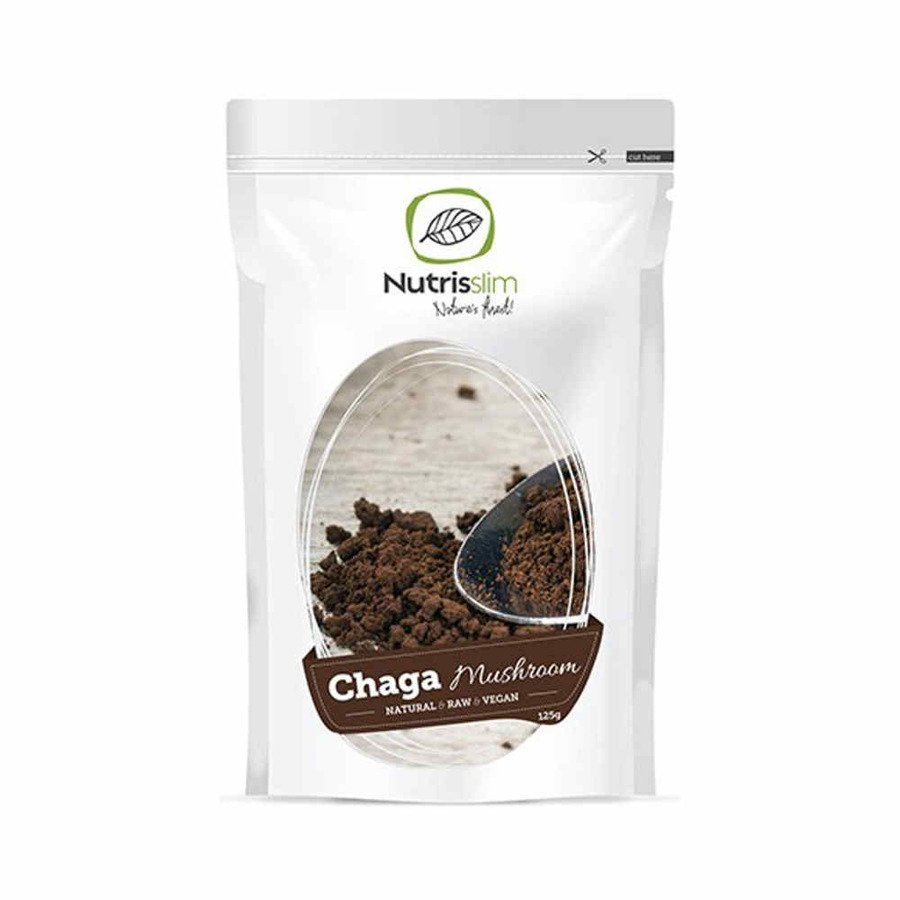 Nutrisslim Chaga Mushroom Powder (błyskoporek podkorowy) 125 g