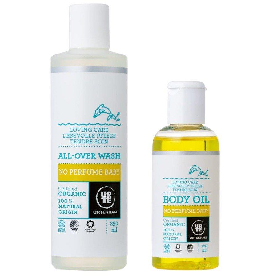 Urtekram No Perfume Baby Zestaw kosmetyków dla dzieci P+O